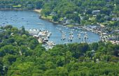 Camden Maine harbor view