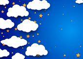 Night Sky Background - Childish Wallpaper