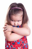 stock photo of little girls photo-models  - Little girl is angry - JPG