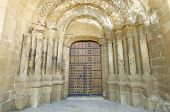 Entrance to the church of Santa Maria in Ejea de los Caballeros, saragossa, Spain