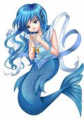 foto of pisces  - Manga style illustration of zodiac symbol - JPG