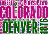 Colorado map tag cloud