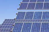 detalle de un panel fotovoltaico para la producción de electricidad