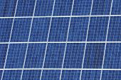 foreground of a photovoltaic panel for renewable energy production