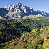 Autumn in Partacua Mountains, Tena Valley, Pyrenees, Huesca, Aragon, Spain