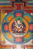 Buddhist Painting At Ceiling Of A Gate, Everest Trek, Nepal