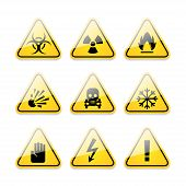 foto of frostbite  - Illustration icons warning signs of danger - JPG