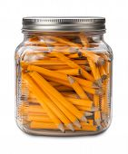 Golf Pencils In A Jar Isolated