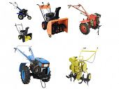 pic of cultivator-harrow  - cultivator under the white background - JPG