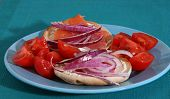 Lox And Bagels With Onions And Tomatoes