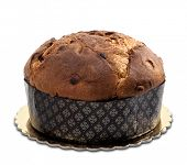 italian cake named Panettone, typical christmas cake
