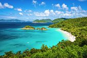 Trunk Bay, St John, United States Virgin Islands.