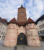 Nuremberg, Medieval White Tower Gate, Bavaria, Germany