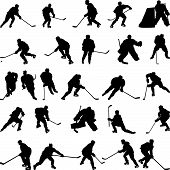 Hockey Silhouetten set