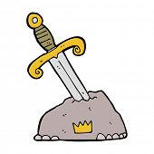 pic of arthurian  - cartoon sword in stone - JPG