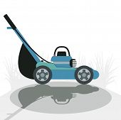 image of spreader  - Side of the mower with a white background - JPG