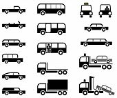 Cars - set of vector icons