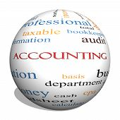Accounting Sphere Word Cloud Concept