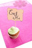 picture of eat me  - Tasty cupcake with butter cream - JPG