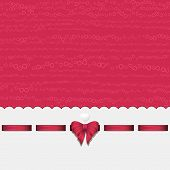 Pink Heart Background With Ribbon Pink
