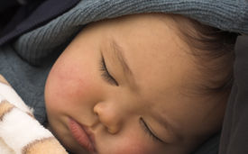 image of sleeping baby  - asian baby sleeping - JPG
