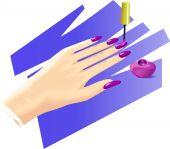 Nail polish poster
