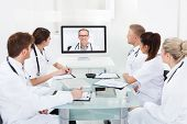 Doctors Attending Video Conference