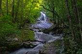 image of virginia  - Roaring Run Falls located in the mountains of Botetourt County, Virginia.