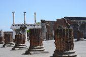 Pompeii Ruins Near Volcano Vesuvius, Italy