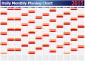 Daily Monthly Planing Chart Year 2015