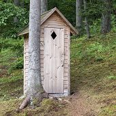 Wooden Outdoors Toilet