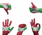 Hand Set With The Flag Of Burundi