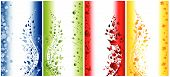 Abstract illustration of four seasons vertical banners