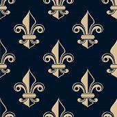 Vintage fleur de lys seamless pattern