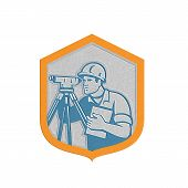 Metallic Surveyor Geodetic Engineer Survey Theodolite Shield Retro