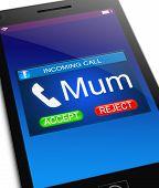 Mum Calling Concept.