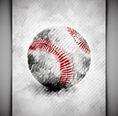 image of little-league  - Baseball ball in watercolor style - JPG