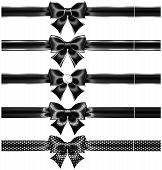 Black Bows With Silver And Ribbons