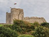 foto of anglesey  - Criccieth Castle in North Wales on the Anglesey peninsula dates from the 13th century - JPG