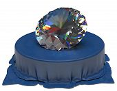 Diamond over Blue Silk Fabric