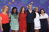 LOS ANGELES - JUN 9:  Heather Kadin, Mindy Kaling, Chelsea Peretti, Jane Lynch, Yeardley Smith, Alex