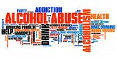 foto of alcohol abuse  - Alcohol abuse and alcoholism issues and concepts word cloud illustration - JPG