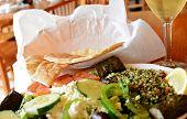Greek Salad with Pita Bread