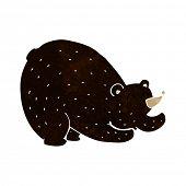 cartoon stretching black bear