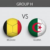 Group H Match Belgium v/s Algeria countries flags