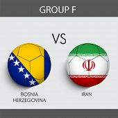 Group F Match Bosnia v/s Iran countries flags