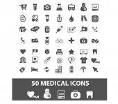 medical, medicine, health icons set, vector
