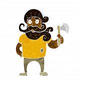 cartoon lumberjack with axe