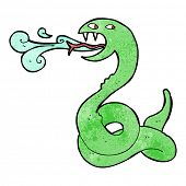 cartoon hissing snake