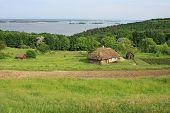 Summer Landscape - Old Ukrainian Architecture In The Village Vitachev